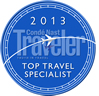 Condé Nast Traveler Magazine 2013 Award - Top Travel Specialist
